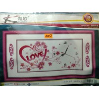 Tranh chữ thập - Đồng hồ  chữ Love