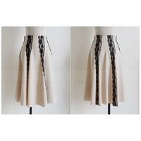 Chân váy dài viền ren Korea
