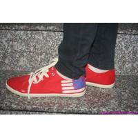 Giày bata thể thao nữ Hacene gót cờ USA cực sành điệu GTT50