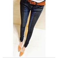 quần jeans nữ phối màu Mã: QD295