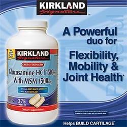 Viên bổ khớp Kirkland Glucosamine 375 viên