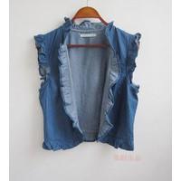áo khoác jeans lửng sát nách Mã: AO1301
