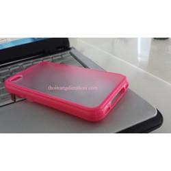 Ốp lưng nhựa viền silicon màu IPhone 4/4S
