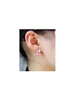 Bông tai thỏ hồng