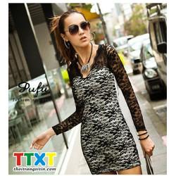 áo kiểu form dài body dạo phố Mã: AD471 - TRẮNG