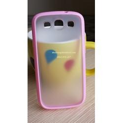 Ốp lưng nhựa lưng mờ viền màu cho Samsung Galaxy S3