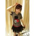 áo thun nữ đầu lâu bông hoa Mã: AX1710