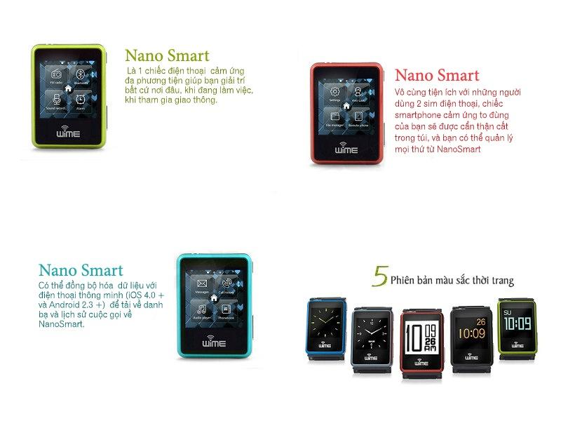 Đồng hồ thông minh Bluetooth WIME Nano Smart 2