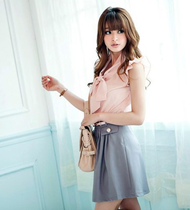 Hình ảnh Đầm Alice Thắt Nơ Kèm Belt - TT79 3