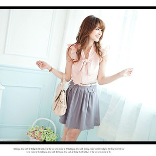 Đầm Alice Thắt Nơ Kèm Belt - TT79