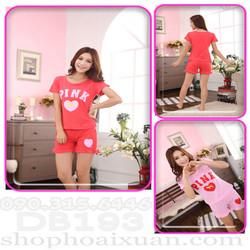 Đồ bộ ngắn mặc nhà pink - DB193_0