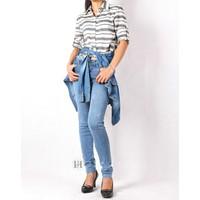 Quần jeans skinny nữ mài xước nhẹ 0163