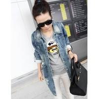 áo khoác jeans form dài rách Mã: AO1700