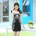 Đầm ôm Đen họa tiết phong cách hàn quốc DX260D