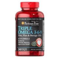 Omega 3-6-9 – Viên uống hỗ trợ tim mạch và trí não lọ 120 viên.