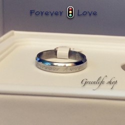 [Greenlife Shop] NX320 - Nhẫn inox Forever Love