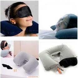 Bộ gối hơi du lịch 3in1 giúp bạn có giấc ngủ ngon và êm ái