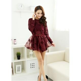 Bộ áo+chân váy họa tiết phong cách Hàn MY124 - MY124 thumbnail