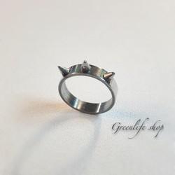 [Greenlife Shop] NX331 - Nhẫn inox trắng gai độc lạ cá tính