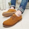 Giày da lộn cao cấp Glado phong cách Hàn Quốc màu nâu - G06