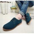 Giày da lộn cao cấp Glado phong cách Hàn Quốc màu xanh - G06