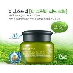 Kem Dưỡng [Innisfree] The Green tea Seed Cream