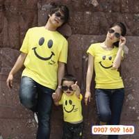 Set áo gia đình Nụ cười hạnh phúc _AGD 262