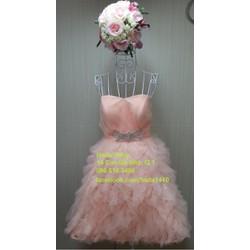 áo cưới ngắn cam pastel
