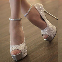 Giày cao gót ren cao cấp G-166