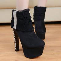 Giày boot cao gót G-160