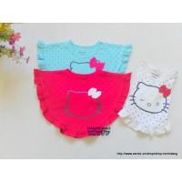 Áo cánh dơi họa tiêt Hello Kitty cho bé từ 8 - 30kg
