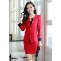 Set áo Vest  + Chân Váy Công Sở- cao cấp loại 1-MSP 5374