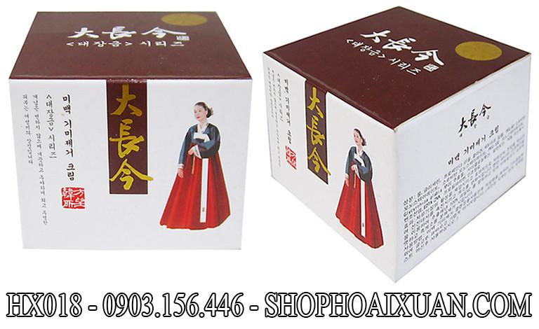 Kem trị nám dưỡng trắng da cô gái HÀN QUỐC mặc đầm đỏ - HX018 1
