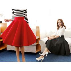 Chân váy xòe rộng phong cách cổ điển