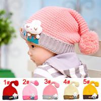 Mũ len bé trai, gái, thiết kế hình nấm, màu sắc dễ thương, ngộ nghĩnh