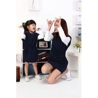 Set đầm mẹ và bé tay đính nút- DA257