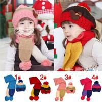 Bộ khăn + mũ len bé trai, gái, kiểu dáng thời trang, phong cách Hàn
