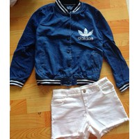 Áo Khoác Jean Adidas