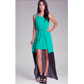 Đầm USA Xách Tay-maxi xanh phối lưới chân váy