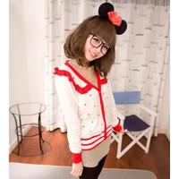 Áo khoác len cardigan cute Mã: AO1656 - TRẮNG