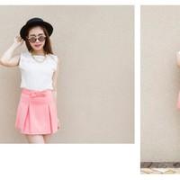 Quần Váy nơ hồng