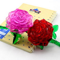 Crystal Puzzle - xếp hình hoa hồng 3D