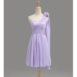 Đầm dự tiệc lệch vai nữ tính Mã: DA3607 - TÍM
