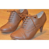Giày Oxford cao gót quyến rũ