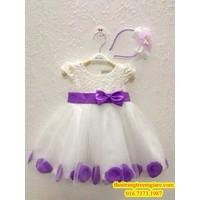 Đầm xinh kèm băng đô cho công chúa nhỏ-QG068