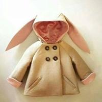 Áo khoác tai thỏ cực hot nhé các Mom ơi-QK069