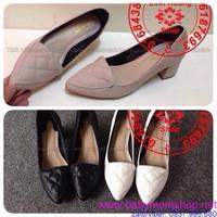 Giày cao gót đế vuông sang trọng quyến rũ GCGN42