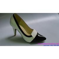 Giày cao gót da bóng sang trọng quyến rũ GCGN43