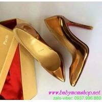 Giày cao gót đế nhọn sang trọng quý phái GCGN55