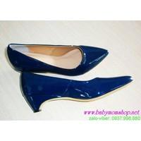 Giày cao gót da bóng thời trang quyến rũ GCGN70